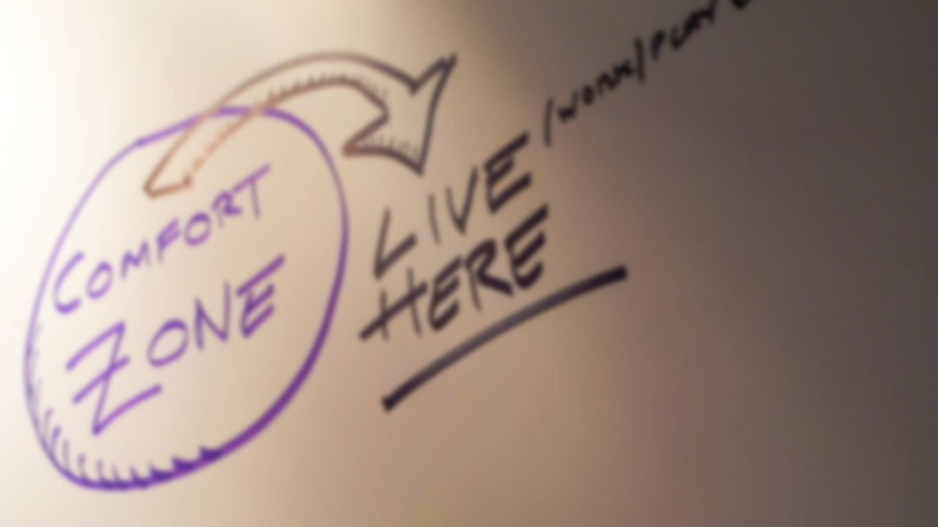Comfort Zone - A scribble on the graffiti wall at FOWD 2012