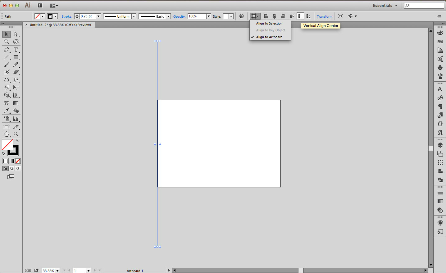fig2 - Create a single line larger than the artboard